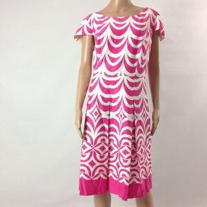 Talbots Women's Shift Dress Cotton Blend Pink 18